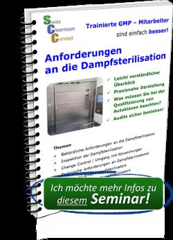 Seminar Anforderungen an die Dampfsterilisation